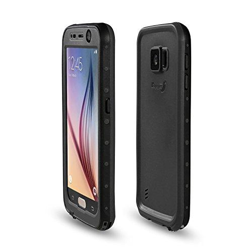 Samsung Galaxy S6 Waterproof Case, Meritcase Galaxy S6 IP68 Full Body Waterproof Dirt Proof Snowproof Shockproof Case for Outdoor Swimming Surfing Diving Snorkeling -Black