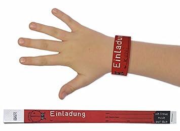 Generic Armband Einladung Kindergeburtstag Marienkäfer 10er Block