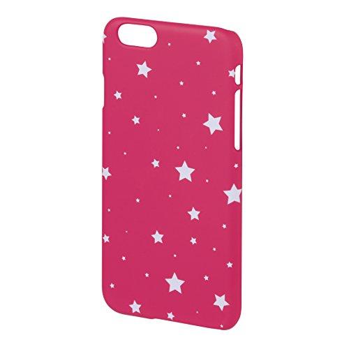 Hama Luminous Stars Cover für Apple iPhone 6, Pink/Weiß