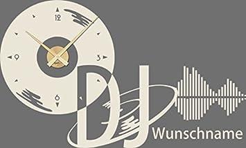 GRAZDesign 800246_GD_816 Wandtattoo Uhr Name | Wanduhr ...