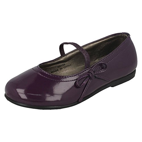 Purple On Side with Spot Elastic Bar Ballerina Flat Strap amp; Bow gFSxqP