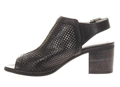 P717771D-100.Sandalo fascia forata.Nero.37