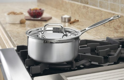 Image of Cuisinart MCP19-18 MultiClad Pro Stainless-Steel 2-Quart Saucepan with Cover