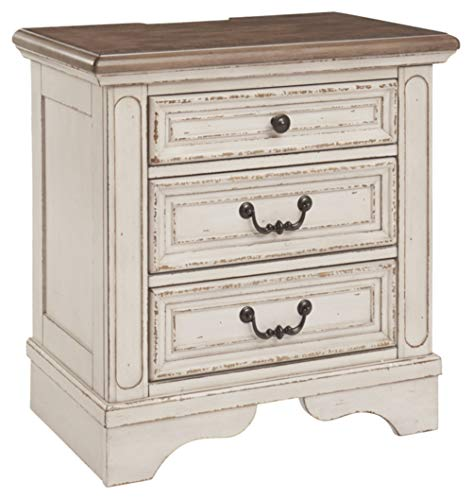 Signature Design by Ashley Realyn Nightstand, Chipped White (Instructions Furniture Set Ashley Bedroom)