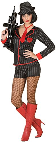 (Atosa 38621 Costume Princess, Size M-L Gangster, Men, Women, Boys Girls,)