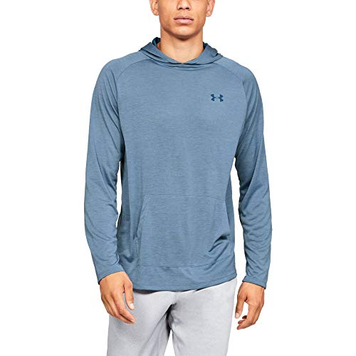 Under Armour Tech Hoodie 2.0, Thunder//Petrol Blue, X-Large (Mens Thermal Hoodie Pullover)