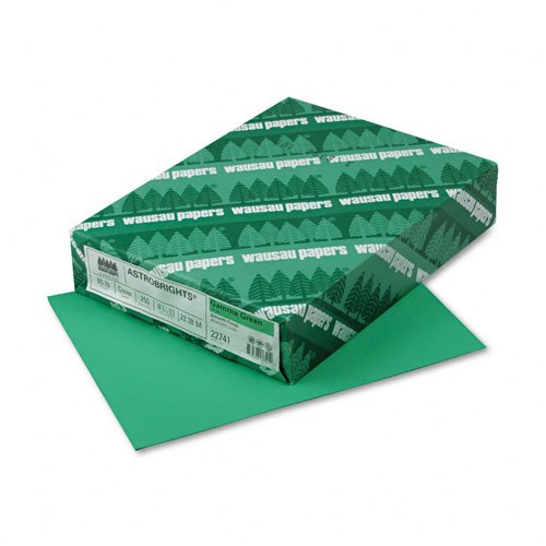 Wausau Paper : Astrobrights Colored Card Stock, 65lb, Gamma Green, Letter, 250 Sheets per Pack -:- Sold as 2 Packs of - 250 - / - Total of 500 Each by Wausau