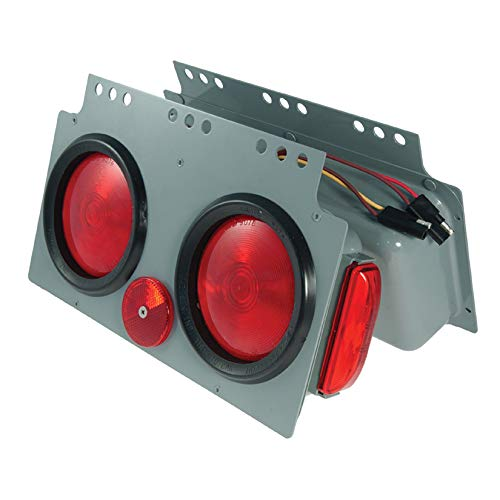 Grote 51022 Gray/Red Stop Tail Turn 4'' Light Power Module with Sidemarker RH by Grote