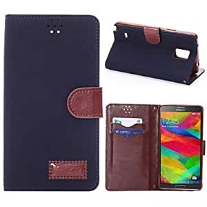 ZL PU Leather and Plastic Joe and Grain with Stent Can Insert Card for Samsung Note 4 (Assorted Colors) , Drak Red