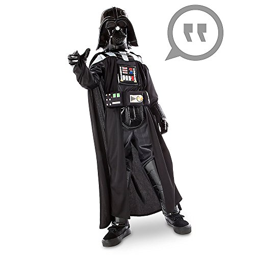 [Star Wars Darth Vader Costume with Sound for Kids Size 9/10 Black] (Luke Skywalker Costume Black Kids)