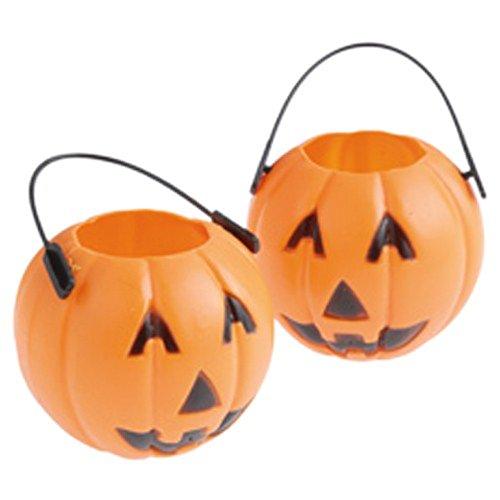 Lot of 12 Mini Halloween Pumpkin Candy Holders