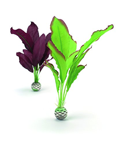 biOrb Silk Plant Set Medium Green & Purple