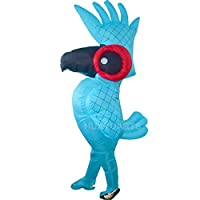 HUAYUARTS Blue Parrot Inflatable Costume Blow up Costume Game Fancy Dress Large Size Funny Jumpsuit Halloween Cosplay Gift