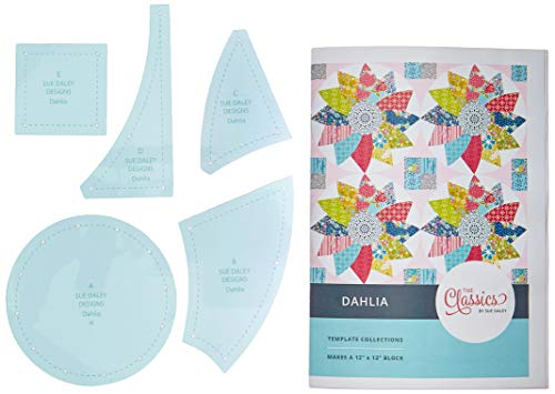 (Patchwork With Busyfingers CL101-DLH Dahlia Block Classics Template Set English Paper Piecing, Multicolor)