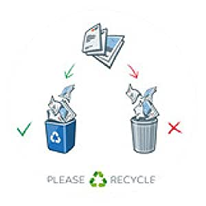 alfombrilla de ratón contenedores de separación de reciclaje de papel - ronda - 20cm