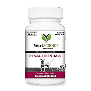 VetriScience Laboratories - Renal Essentials Kidney Health Support for Dogs, 60 Chewable Tablets 36