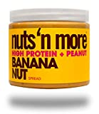 #8: Nuts 'N More Banana Nut Peanut Spread, High Protein, Great Tasting, All Natural Sports Nutrition, 16 oz Jar