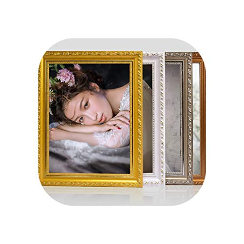 (Solid Wood European Photo Frame A3 A4 Inch Wedding Photo Hanging Wall Children Pose Frame Hanging Wall Multiple Colors,50.8X61)