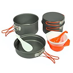 Gas One Anodizing Aluminum Cook Set (3-5 people) - Outdoor cooking/Hiking/Backpacking cookware