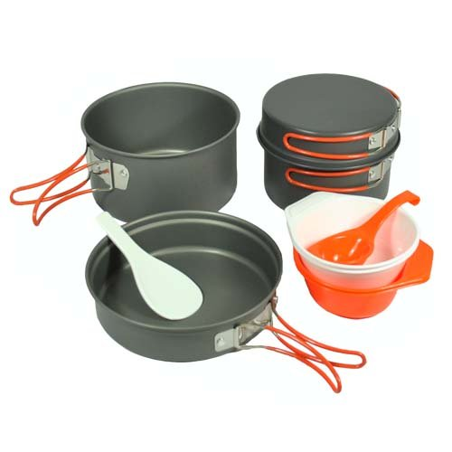 Gas One Anodizing Aluminum Cook Set (3-5 people) – Outdoor cooking/Hiking/Backpacking cookware