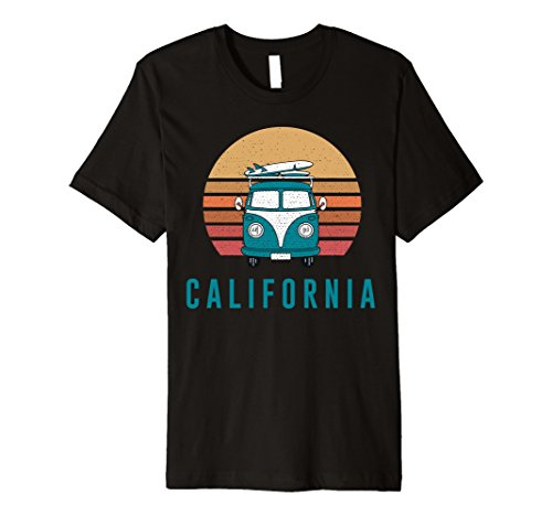 Vintage Inspired California Surfing Summer Hippy Van Shirt (Hippy Van)
