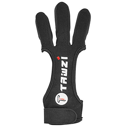 JKER TECH Archery Gloves Shooting Hunting Leather Three Finger Protector for Youth Adult
