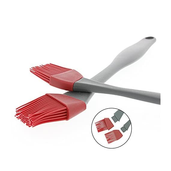 "Yukon Glory Pastry Brush, Professional Grade Heat Resistant Silicone Basting Brush - Set of 2 - Pastry Brush For Cooking, Grilling and Basting 3 HEAVY DUTY-The silicone basting brush set is the new generation of kitchen utensils. It's a great gift for home chefs and culinary enthusiasts. The pastry brush set includes one 15"" brush, one 8"" brush and a 3-year warranty EASY TO CLEAN- The basting brush premium silicone head is heat resistant up to 500° F. Its comfortable handle is easy to control at all angles and the angled head helps maneuver around pastry corners. Easy to clean - Dishwasher safe too! ALL USES- Silicone pastry brushes work like real bristle brushes. They hold sauces, glazes and other liquids evenly to distribute ingredients smoothly for efficient basting on delicate recipes. Use for baking, barbecue or crafting projects."