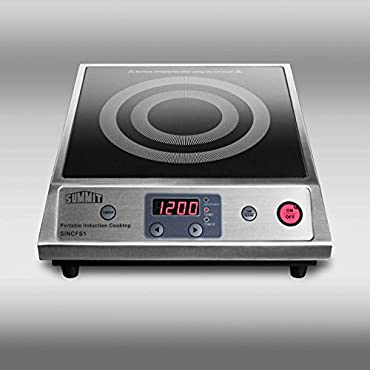 Summit SINCFS1 12 Smoothtop Portable Electric Induction Cooktop With 1800W
