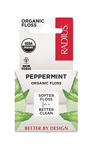 RADIUS Organic Floss Peppermint or an Oral Care Boost, Total Tooth and Gum Protection, 1 Pack