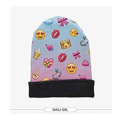 Giddah Cappello Invernale di Lana Beanie cap Warm Outdoor Fashion Hat Emoji Ovunque Stampato Cosy Cappello
