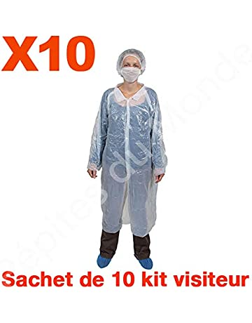 Kit Visitor protección desechable bata Charlotte surchaussures máscara Set 10 bolsas 10 Kit – pdm-