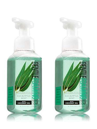 Bath and Body Works Eucalyptus Mint, Gentle Foaming Hand Soap, 8.75 Ounce (2-Pack) - Gentle Foaming Hand Soap