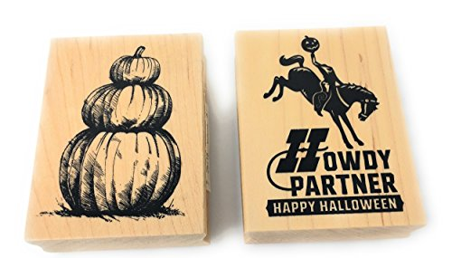 (Inkadinkado Halloween Wood Block Stamp Bundle (2)