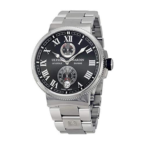 Ulysse Nardin Marine Chronometer Black Dial Black Leather Mens Watch 1183-126-7M-42 (Ulysse Nardin Mens Marine)