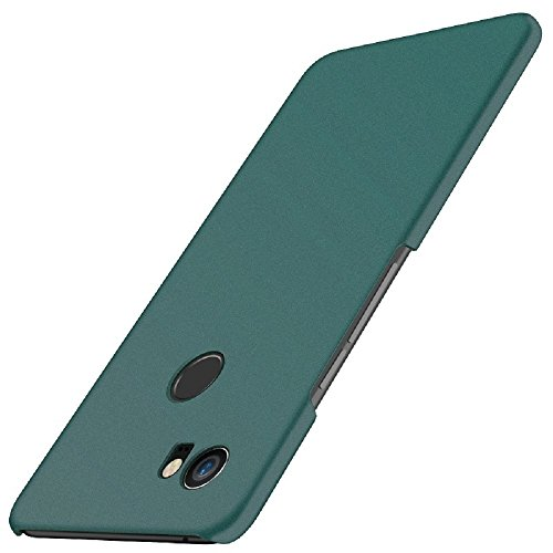 Google Pixel 2 XL Case, Arkour Matte Frosted Shield Skin Protective Hard Lightweight Cover Case Perfect Slim Fit for Google Pixel 2 XL (Matte Green) (Skin Hard Case Green)