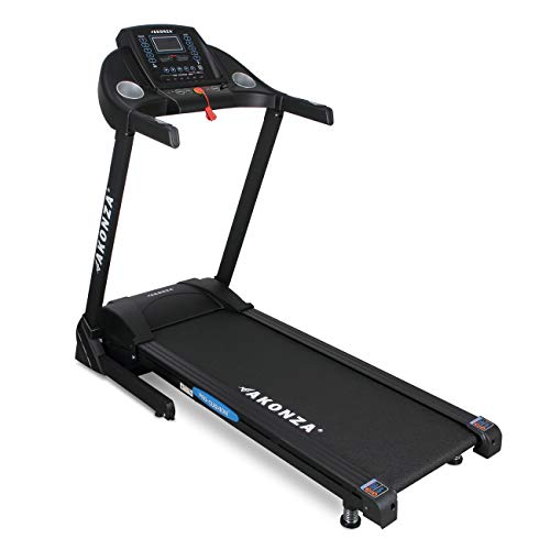 Akonza Foldable 3 Built-in Programs LCD Display Time Calories Speed Scan Heart Rate Running Electric Treadmill