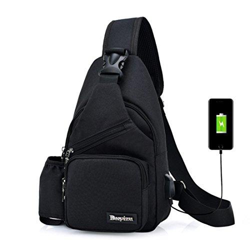 negro TOYIS al backpack hombre para hombro Bolso 611Yq8wP