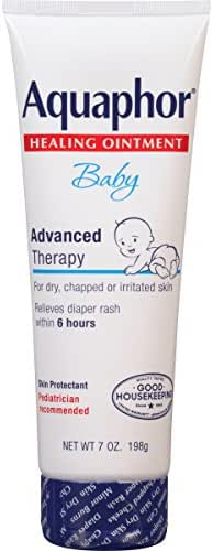 Aquaphor Baby Healing Ointment - For Chapped Skin, Diaper Rash and Minor Scratches - 7 oz. Tube