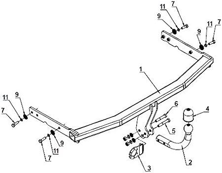 MCLP Attelage Demontable avec Outils Faisceau 7 Broches pour Seat Altea XL 2006-2015