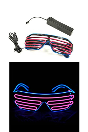 SPARIK ENJOY Party LED Glasses Shutter EL Wire Neon Sunglasses Light Up Costumes For Party
