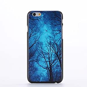 YULIN Blue Starry Sky Design Pattern Plastic Hard Back Cover for iPhone 6 Plus