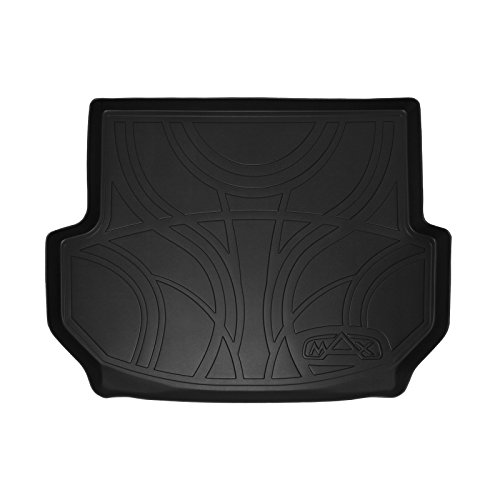 SMARTLINER All Weather Cargo Liner Floor Mat Black for 2013-2018 Hyundai Santa Fe Without 3rd Row ()