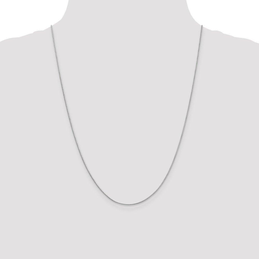 Mia Diamonds 10k White Gold .90mm Round Snake Chain Necklace