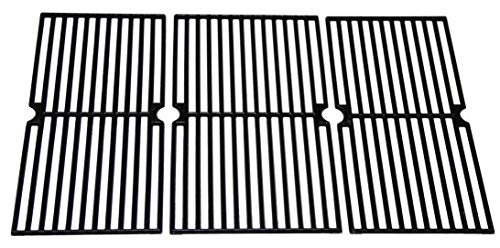 Hongso PCG233 Universal Gas Grill Grate Cast Iron Cooking Grid Replacement, Sold As A Set of 3 ()