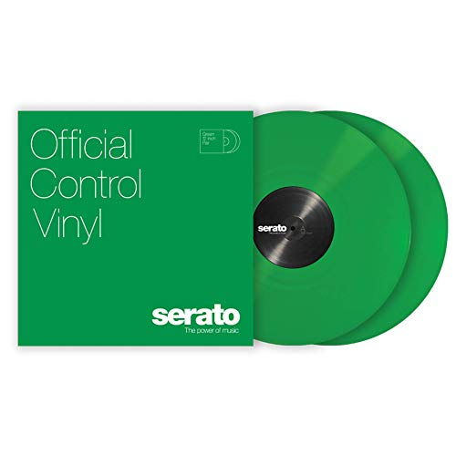 "Serato Control Vinyl 12"" Pair Green"
