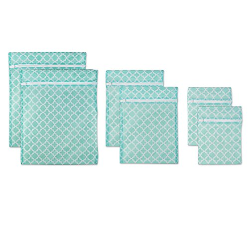 DII Set of 6 Mesh Laundry Bags for Delicates, Bra, Underwear, Hosiery, Stocking, Lingerie, Travel Storage, and Closet Organization - 2 Large, 2 Medium, 2 Small