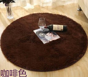 SVI Top Finel Hot High Quality Floor Mats Modern Shaggy Round Rugs and Carpets for Living Room Bedroom Carpet Rug for Home Yoga Mat coffee 80cmx80cm
