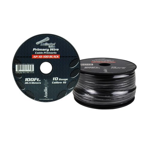Audiopipe 10 Gauge 100Ft Primary Wire Black
