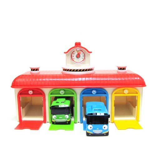 Mimiworld Tayo the Little Bus Main Garage with 15 Cars including Subway Model of Tayo Full Set Toy by Mimi World (Image #3)
