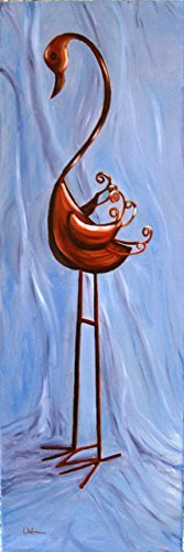Paintings Crane Gallery (Metal Crane Still Life Original One of a Kind Oil Painting Wall Art)